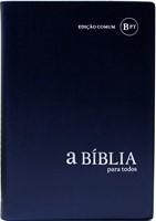 Bíblia para Todos - capa vinil azul metalizado