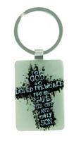 Porta-chaves metal - For God so Loved the World