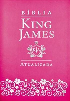 Bíblia King James Atualizada capa pink fuxia