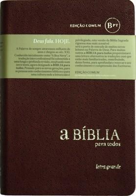 Bíblia para Todos - Letra Grande capa maleável cor bordô