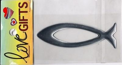 Peixe - Emblema Auto Flexível