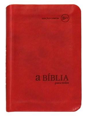 Bíblia para Todos - capa camurça vermelha