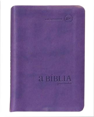 Bíblia para Todos - capa camurça violeta