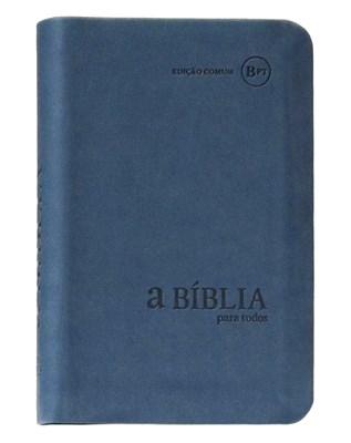 Bíblia para Todos - capa camurça azul