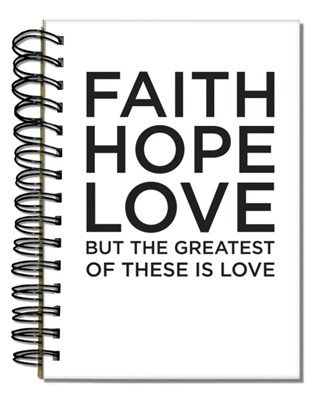 Bloco de notas - FAITH HOPE LOVE