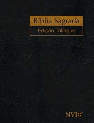 Bíblia edição trilíngue Espanhol, Inglês e Português