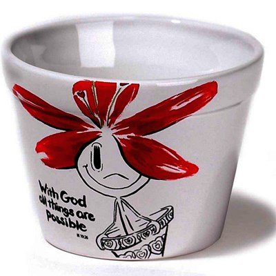 Vaso de Flores - With God all things are possible