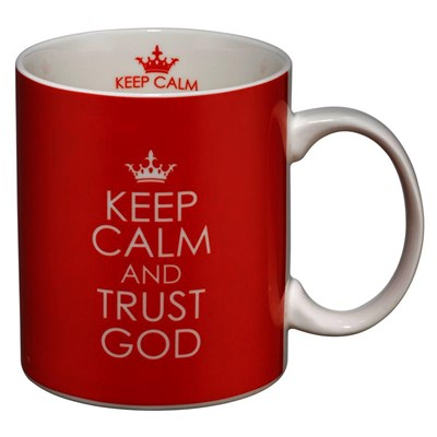 Caneca Keep calm and trust God