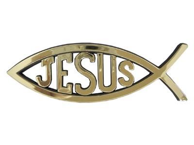 Peixe para carro com Jesus