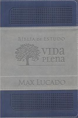 Bíblia de estudo Vida Plena, capa azul