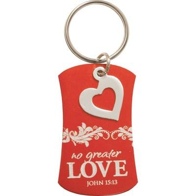 Porta-chaves coração - No greater Love