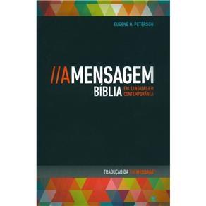 Bíblia A Mensagem capa brochura Vintage