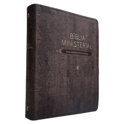 Bíblia Ministerial com capa castanha