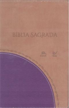 Bíblia NVI média capa bicolor castanho claro e vinho