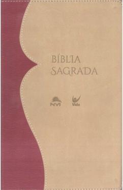 Bíblia NVI média capa bicolor caramelo e bege