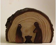 Presépio em meio tronco