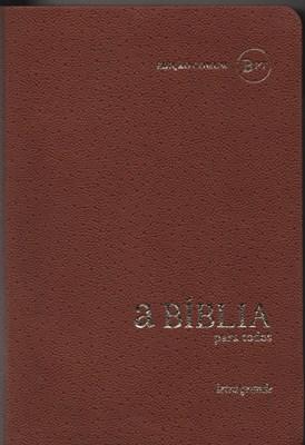Bíblia para todos BPTc 64LG castanho - Letra Grande