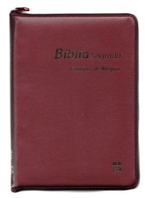 Bíblia Sagrada com cânticos de alegria