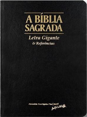 Bíblia Sagrada ACF com letra gigante e referências em formato compacto