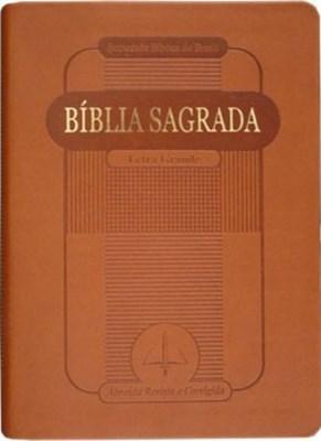 Bíblia Sagrada com letra grande e formato compacto