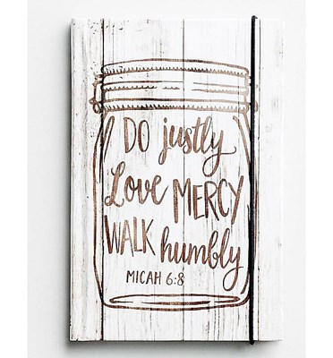 Bloco de notas Micah 6:8