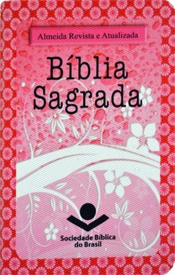 Bíblia Sagrada edição de bolso com capa feminina