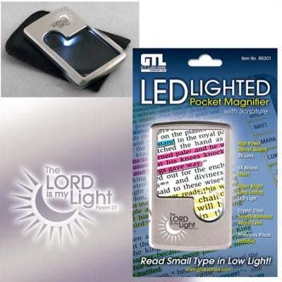 Lupa de bolso com luz led