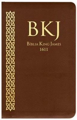 Bíblia King James Fiel 1611 capa castanha