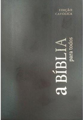 Bíblia para todos com capa vinil preta e beiras brancas