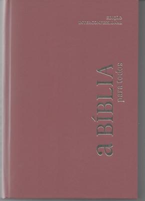 Bíblia para todos, capa dura, cor bordô
