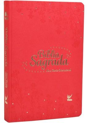 Bíblia Sagrada NVI, capa rosa e beira rosa