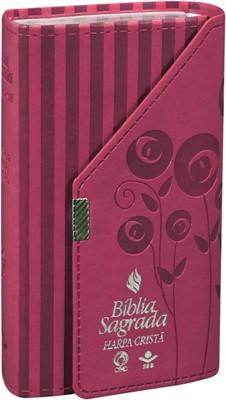 Bíblia sagrada carteira com harpa cristã