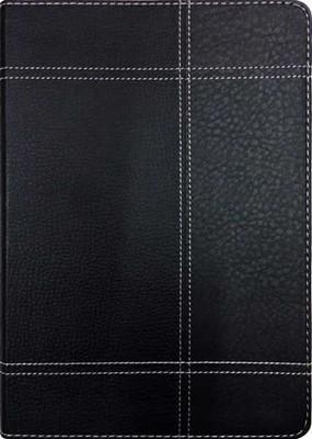 Bíblia Thompson capa de luxo preta e cinza e beiras douradas