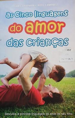 As cinco linguagens do amor das crianças - Capa com defeito