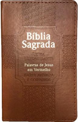 Bíblia Sagrada com letra ultra gigante harpa avivada e corinhos