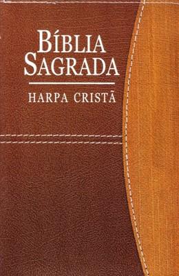 Bíblia Sagrada com harpa cristã e letra grande