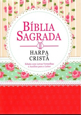 Bíblia Sagrada com Harpa Cristã e letra gigante