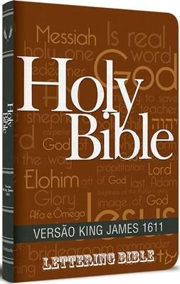 Bíblia King James 1611 Ultra Fina Lettering Holy Bible