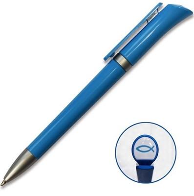 Caneta Ichtus logo azul