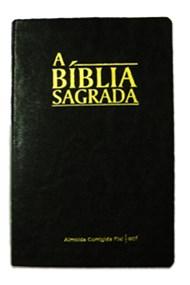 Bíblia ACF capa napa luxo cor preta