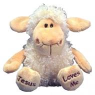 """Peluche Ovelha """"Jesus Loves Me"""""""