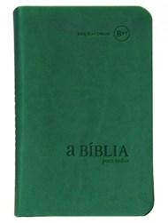 Bíblia para Todos - capa camurça verde