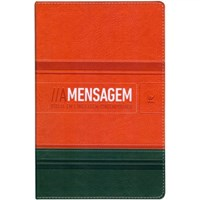 Bíblia A Mensagem - capa bicolor laranja e verde