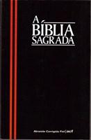 Bíblia capa brochura preta com listra vermelha