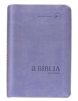 Bíblia para Todos - capa camurça lilás