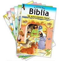 Minha Mini Bíblia de Autocolantes - kit 6 volumes