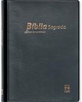 Bíblia DN 42C com capa vinil preta e beiras brancas