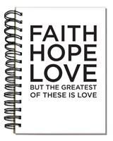 Bloco de notas - FAITH HOPE LOVE
