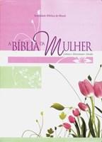Bíblia da Mulher, tamanho grande, capa flores