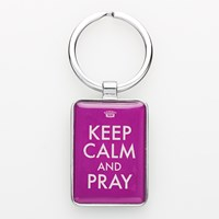 Porta-chaves Keep Calm and Pray